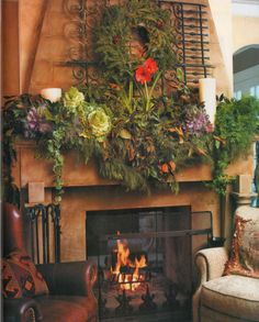 Decorating Fireplace Mantels for Christmas | Pubblicato da Shabby in love a 04:25 4 commenti: