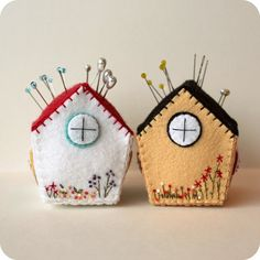 Pincushion Cottage pdf Pattern Instant Download by Gingermelon