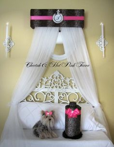 BED Canopy CROWN Princess Cheetah Hot pink SaLe by SoZoeyBoutique, $49.93