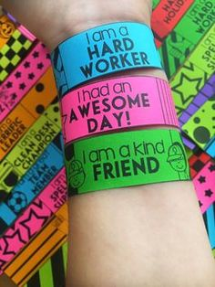 Brag Bracelets - Ink Friendly Black and White
