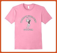 Mens World Greatest Golfer T-Shirt Funny Vintage Golf Retro Tee Small Pink - Retro shirts (*Partner-Link)