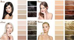 Картинки по запросу четыре цветотипа фото
