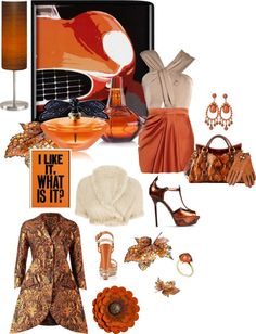 """copper"" by lovetodrinktea ❤ liked on Polyvore"
