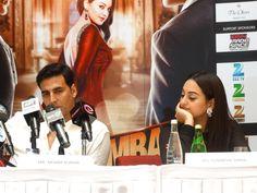 The cast of Hindi movie 'Once Upon a Time in Mumbai Dobaara' came to Dubai. Stars Imran Khan Sonakshi Sinha and Akshay Kumar Time In Mumbai, Dubai, Imran Khan, Akshay Kumar, Sonakshi Sinha, Hindi Movies, Once Upon A Time, It Cast, Stars