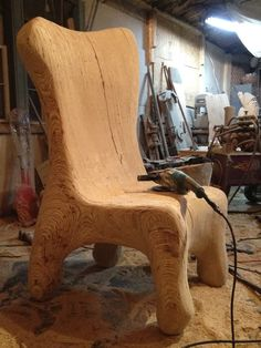 107 Best Chainsaw Wood Carving Chair Design Ideas Images