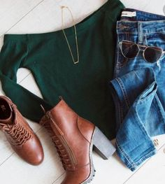 Look at other great ideas about Style clothing, Swag attire and Woman style. Winter Outfits Women, Swag Outfits, Casual Fall Outfits, Cool Outfits, Fashion Outfits, Fashion Trends, Fashion Styles, Women's Fashion, Off The Shoulder Top Outfit