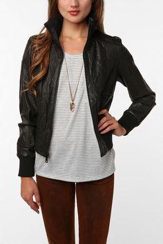 Levi's Knit Collar Leather Jacket