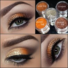 I usually stray away from orangey, gold colors, but I'm loving these loose pigments more & more.