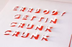 Positive this already blowin' up Pinterest: #DIY #posters with cut-out #lettering fr @Jan Howard About Orange