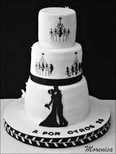 LA COCINA DE MORENISA: Dulce Boda y Aniversario Beautiful Cakes, Wedding Cakes, Bridal, Desserts, Floral, Ideas, Mini Pastries, Decorating Cakes, Amor