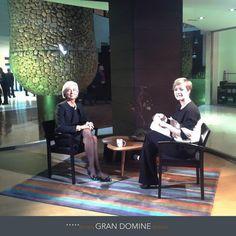 En Gran Hotel Domine Bilbao by Silken pudimos presenciar la entrevista que la presentadora María Casado hacia a la directora del Fondo Monetario Internacional, Christine Lagarde para el programa Los Desayunos de Tve.  Hotel Silken Gran Domine Bilbao: http://www.hoteles-silken.com/hoteles/gran-hotel-domine-bilbao/