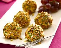 Oscar party menu: almond-crusted chevre and grape truffles