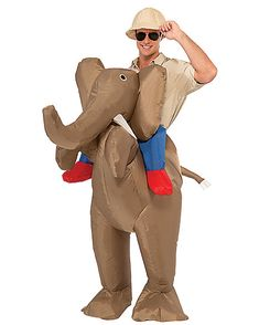 Inflatable Ride Elephant Adult Costume - Spirithalloween.com