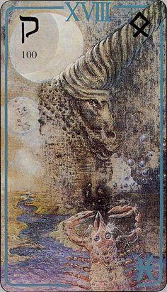 Haindl Tarot - XVIII - Moon