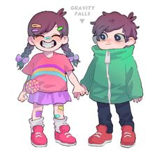 Dipper E Mabel, Mabel Pines, Dipper Pines, Gravity Falls Bill Cipher, Gravity Falls Au, Fall Over, Reverse Falls, Billdip, Fall Pictures