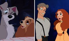 Disney animals and their human forms. - 9GAG