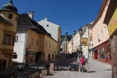Banska Stiavnica city street to square