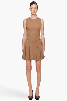 Camel Dress #topmode #mode2dayslook #CamelDress #reedkhloe55  www.2dayslook.com