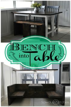 Ana White | Build a Bench that Converts to Toddler Table | Free and Easy DIY Project and Furniture Plans