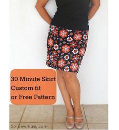 Free pattern: 30-minute easy skirt