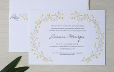 The Chá das Duas launched their new online store of wedding invitations, the Dois Ponto Dois.