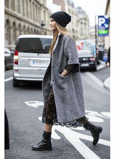 Street Style вдъхновения... Палто като нежна прегръдка