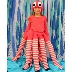 With just four pairs of tights, you can make this adorable homemade octopus costume that she'll love to wear.