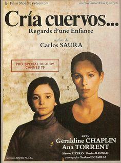"""(Cría cuervos) 1975. Ana Torrent, Geraldine Chaplin - Carlos Saura - """"Porque te Vas?"""""""