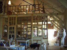 """Sara Lechner""--Yowza, love this space! Lechner's studio presumably?"