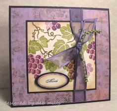 old world grapes, 88 keys by 88 keys - Cards and Paper Crafts at Splitcoaststampers