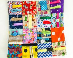 Dementia/ Alzheimer's  fidget blanket handmade