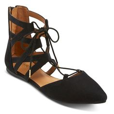 Women's Nara Lace up Ballet Flats - Mossimo Supply Co. ™ : Target