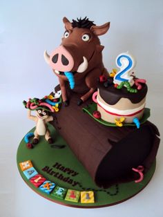 Has to be the cutest Pumba and Timon cake.. They did an amazing job!