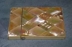Antique French Napoleon III Mother of pearl and ivory card case. -
