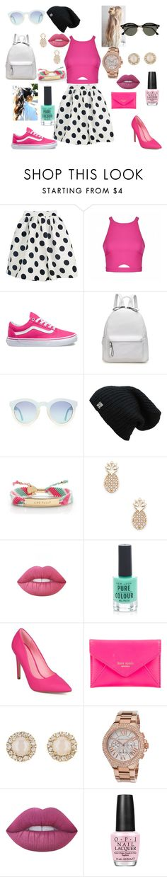 """""""Day night"""" by ellenjanegannon ❤ liked on Polyvore featuring Ally Fashion, Vans, Kate Spade, Sole Society, Lime Crime, New Look, Michael Kors, OPI, Ray-Ban and DayToNight"""