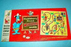 "Vintage 1959 ""Huckleberry Hound Western Game"" Board Game by Milton Bradley"