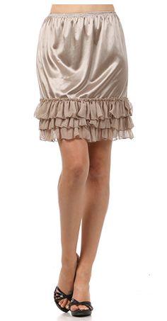 Lime Lush Boutique - Mocha Chiffon Skirt Extender, $27.99 (http://www.limelush.com/mocha-chiffon-skirt-extender/)