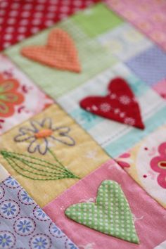 Heart quilt #sewing #quilting