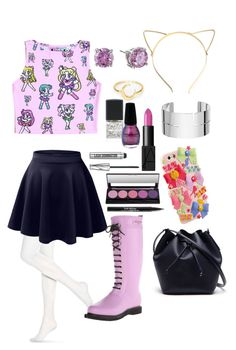 """Sailor Moon"" by dancearden ❤ liked on Polyvore featuring Hue, LE3NO, Ilse Jacobsen Hornbaek, Lacoste, NARS Cosmetics, Lane Bryant, Dinh Van, CZ by Kenneth Jay Lane, Bare Escentuals and Trish McEvoy"