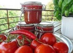 10 заготовок из помидоров на зиму. Homemade Ketchup Recipes, Sauce Recipes, Cooking Recipes, Tomato Sauce Recipe, Preserves, Pickles, Canning, Vegetables, Food