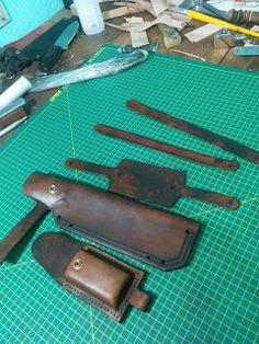 Pires Cutelaria Artesanal - Facas artesanais para sobrevivência e bushcraft. Caxambu - MG: Pequeno passo a passo de como faço as bainhas!