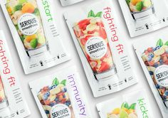 SER!OUS Smoothies on Packaging of the World - Creative Package Design Gallery