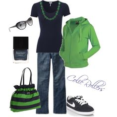 """""""Navy & Green"""" by colierollers on Polyvore"""