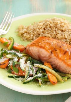 Honey-Balsamic Glazed Salmon -- Ready in just 20 minutes, serve this healthy living recipe with hot steamed rice or cooked new potatoes for a delicious dinner the whole family will enjoy.