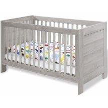 Lit bébé Angénid à barreaux - Blanc/bois - 1 | Bambino | Pinterest ...
