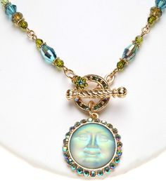 KIRKS FOLLY LUCK OF THE SEAVIEW MOON TOGGLE NECKLACE goldtone #KirksFolly