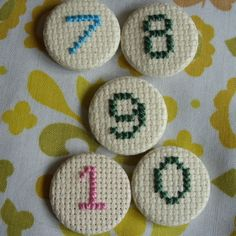 Cross Stitch Number Badge