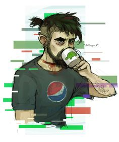 Anti casually wears a Pepsi shirt while Jack aggressively advertises Coca Cola for free Pewdiepie, Septiplier Comic, Antisepticeye Fanart, Jacksepticeye Fan Art, Darkiplier And Antisepticeye, Danti, Famous Youtubers, Between Two Worlds, Jack And Mark