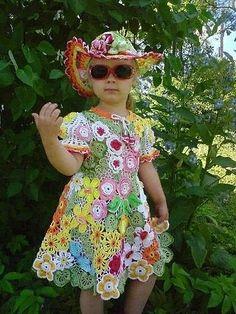 Crocheting Ideas For Handmade Accessories Irish Lace, Crochet For Kids, Crochet Ideas, Crochet Fashion, Irish Crochet, Crochet Designs, Handmade Accessories, Knit Dress, Baby Dress