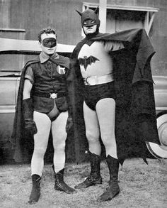 Robert Lowery and Johnny Duncan in Batman and Robin (1949)